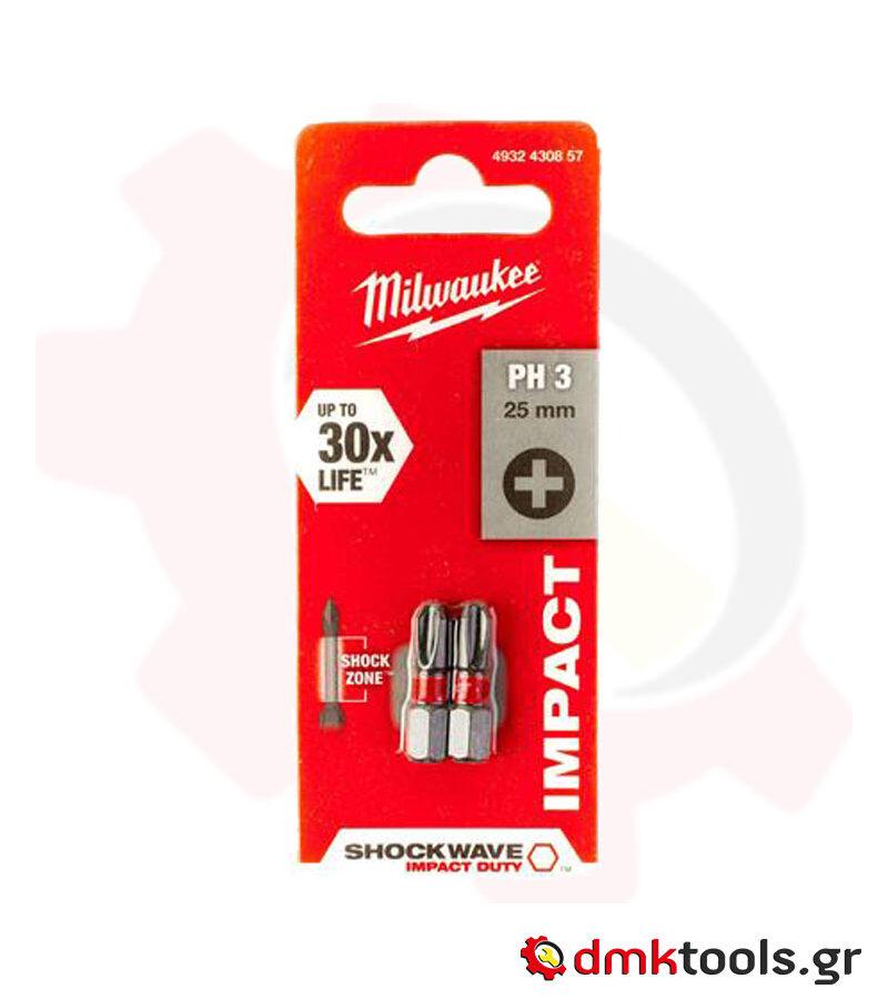 videvoiki dmktools mparolas milwaukee 4932430857 miti ph3 25mm shockwave
