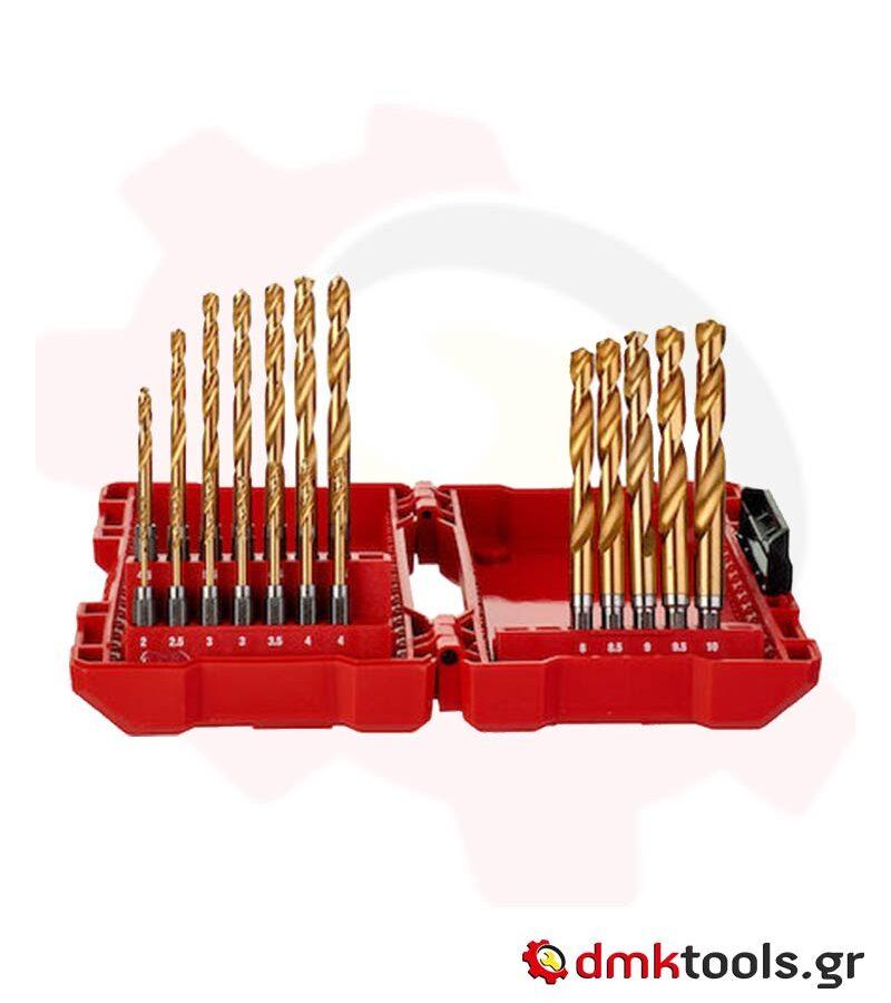 videvoiki dmktools mparolas milwaukee 48894760 set tripania shockwave red hex titanium 19tmh